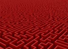 Labyrinthe rouge à l'horizon Photographie stock libre de droits