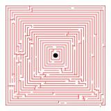 Labyrinthe rouge carré illustration libre de droits