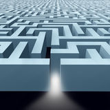 Labyrinthe sans fin de labyrinthe Image stock