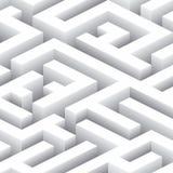 Labyrinthe sans fin Modèle sans couture de fond Photographie stock libre de droits