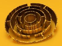 Labyrinthe superficiel par les agents et rouillé Image stock