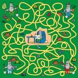 Labyrinthe - taupe illustration de vecteur