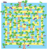 Labyrinthe tropical d'été Images stock