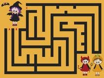 Labyrinthe veille de la toussaint Image stock