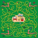 Labyrinthe - vers de terre Image stock