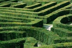 Labyrinthgarten Stockbilder