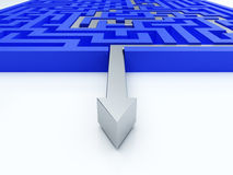 Labyrinthkonzept Lizenzfreies Stockfoto