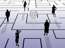 Labyrinthkonzept, eMail-Thema Lizenzfreies Stockbild