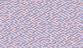 Labyrinthmuster-Zusammenfassungshintergrund mit Labyrinth f?r Plakat oder Tapete stock abbildung
