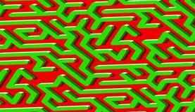 Labyrinthmuster-Zusammenfassungshintergrund mit vibrierendem Labyrinth für Plakat oder Tapete stock abbildung