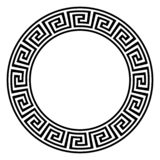 Labyrinthring mit Windungsblick in Schwarzweiss auf einem lokalisierten weißen Hintergrund stock abbildung