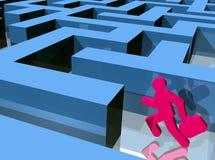 Labyrinthseitentrieb Stockbilder