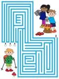 Labyrinthspiel für Kinder Stockbild