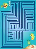 Labyrinthspiel für Kinder lizenzfreies stockfoto