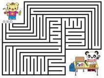 Labyrinthspiel für Kinder stockfotos