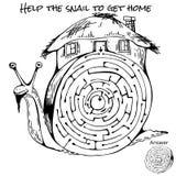 Labyrinthspiel für Kinder Lizenzfreies Stockbild