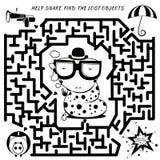 Labyrinthspiel für Kinder Lizenzfreie Stockfotografie