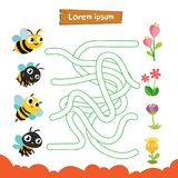 Labyrinthspiel-Vektordesign lizenzfreie abbildung