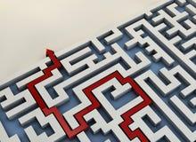 Labyrinthwegpfeil Lizenzfreie Stockfotos