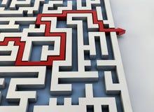 Labyrinthwegpfeil Lizenzfreie Stockbilder