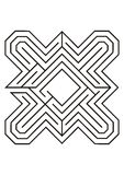 Labyrintillustration i svartvitt Royaltyfri Fotografi