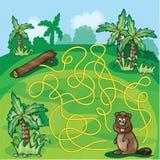 Labyrintlabyrint voor jonge geitjes Royalty-vrije Stock Afbeeldingen