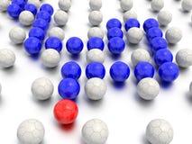 Labyrintledarskap och sportbegrepp Royaltyfri Fotografi