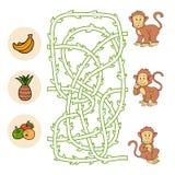 Labyrintlek (apan) Royaltyfri Bild