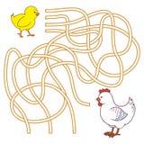 Labyrintlek för barn (den fega familjen) Royaltyfria Foton