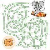 Labyrintlek för barn (musen) Royaltyfri Foto
