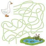 Labyrintlek (gåsen och dammet) Arkivbilder