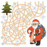 Labyrintlek (Santa Claus) Royaltyfri Foto
