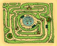 labyrintpark Royaltyfri Fotografi