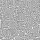 Labyrintpatroon Stock Fotografie