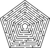 labyrintpentagon royaltyfri illustrationer