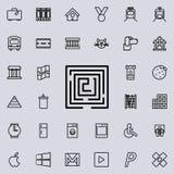 Labyrintpictogram Gedetailleerde reeks minimalistic lijnpictogrammen Premie grafisch ontwerp Één van de inzamelingspictogrammen v vector illustratie