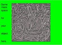 Labyrintpussellek med grönt utrymme för objekt- och text- eller för bakgrundsrengöringslätt vektor royaltyfri illustrationer