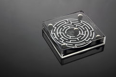 Labyrintspel stock afbeelding