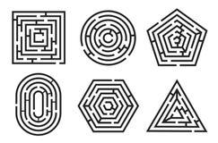 Labyrintspel en het raadselreeks van de labyrintpret vector illustratie