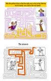 Labyrintspel met Koning, Koningin en Prinses Stock Afbeeldingen