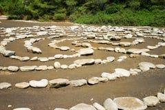 labyrintsten Arkivfoto