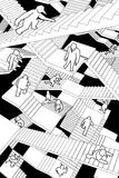 labyrinttrappa Arkivbilder