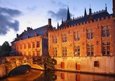 Lac à Bruges flanders belgium photos stock