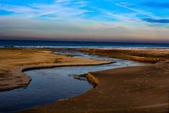 Lac à la mer Images libres de droits