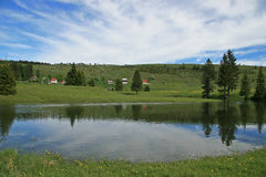 Lac à la montagne Images stock
