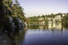 Lac à New York hors de la ville photographie stock