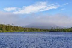 Lac à Pierre, Parc National de la Gaspesie. Lac à Pierre of Parc National de la Gaspesie in a summer morning Stock Images