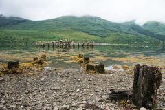 lac écossais image stock