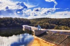 Lac étroit dam de Warragamba photographie stock libre de droits