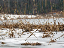 Lac Abant à l'hiver Photographie stock libre de droits